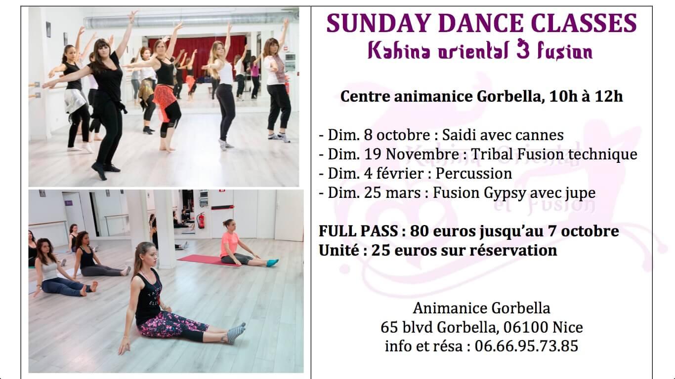 SUNDAY DANCE CLASS - danse orientale Nice